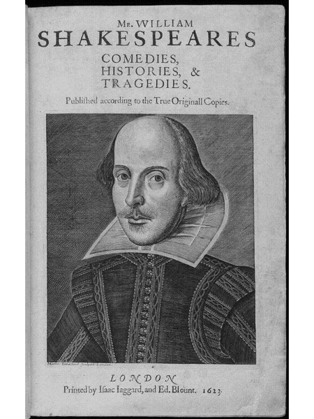 title page william shakespeare s first folio 1623