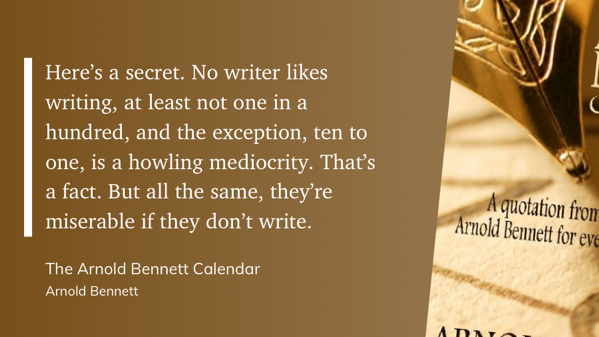 quote from The Arnold Bennett Calendar
